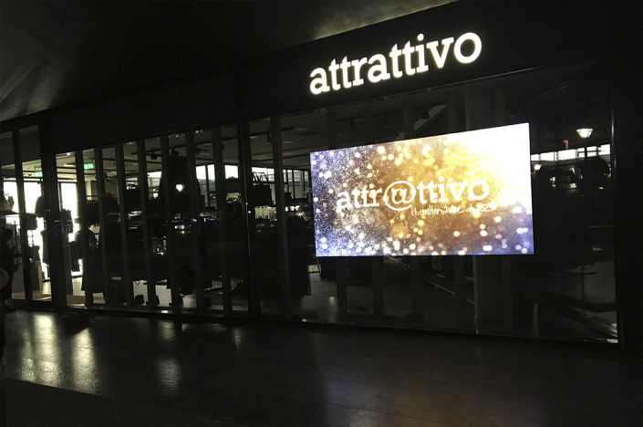 Led Video Wall in Retail Store